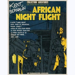 African Night Flight, Une aventure de Kriss Delux