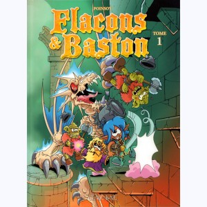 Flacons et baston